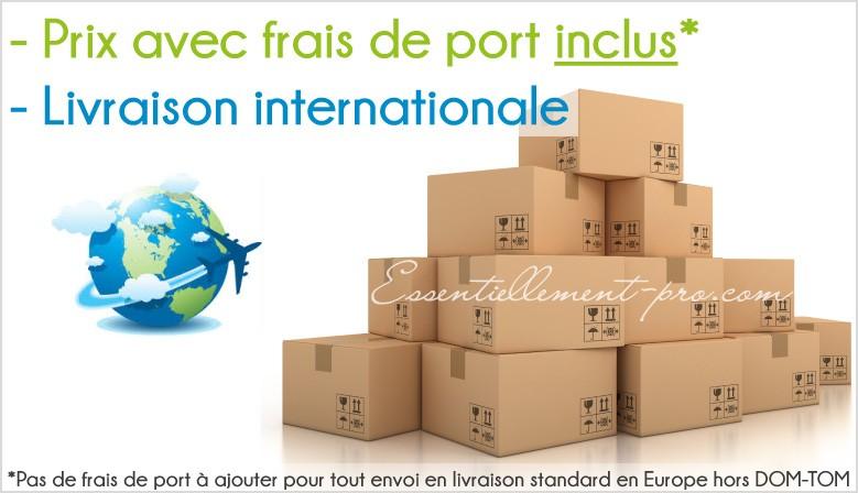 Nos frais de port sont inclus dans nos prix. Livraison internationale