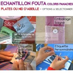 Echantillon fouta - Coloris panachés