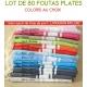 Lot de 80 foutas plates - Coloris au choix