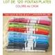 Lot de 120 foutas plates - Coloris panachés