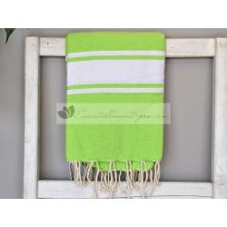 Serviette Fouta plate Vert Granny 100% coton grossiste