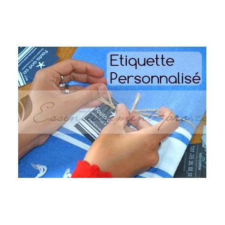 Emballage individuel + étiquette cartonnée personnalisée