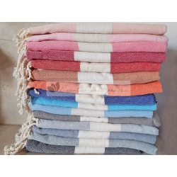 Lot de 15 foutas chevron