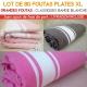 Lot de 80 grandes foutas plates XL classiques - Coloris panachés